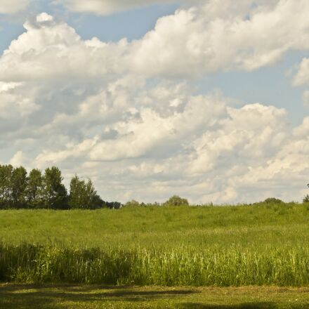 sky, countryside, hay meadow, Canon EOS REBEL T2I