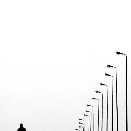 black, and, white, road, Canon EOS 1000D
