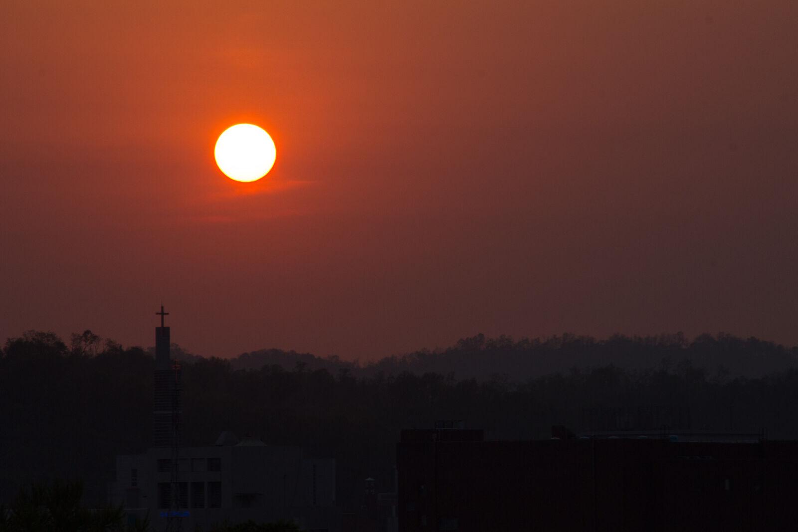 "Canon EOS 60D sample photo. ""Sunset, church"" photography"