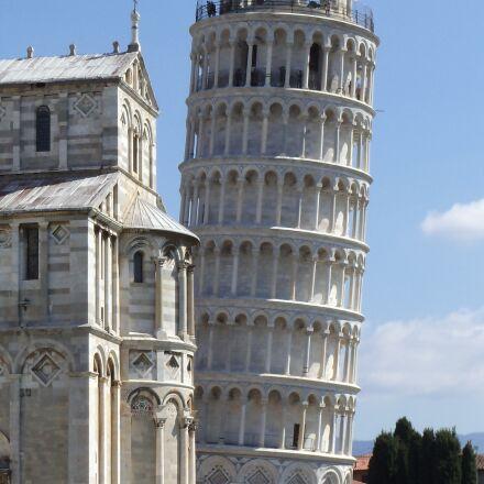 pisa, italian, leaning tower, Sony DSC-S3000