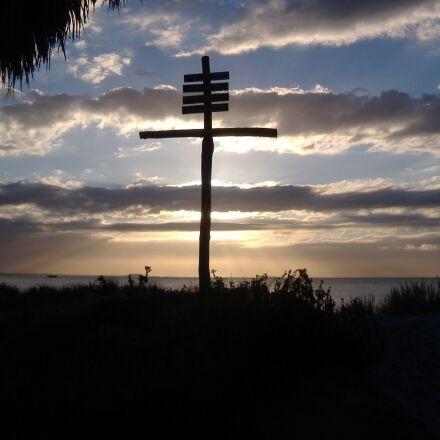 cross, jesus, silhouette, Fujifilm FinePix A345
