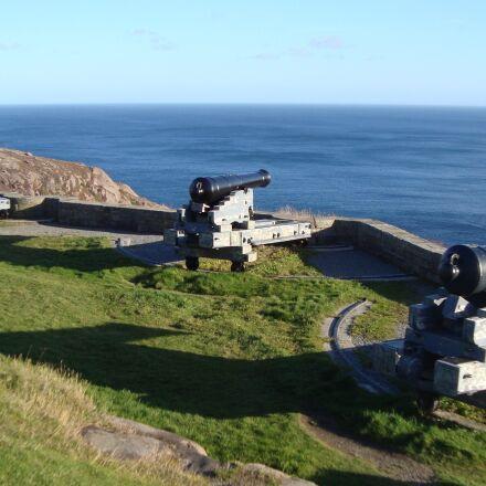 cannon, gun, signal hill, Sony DSC-W120