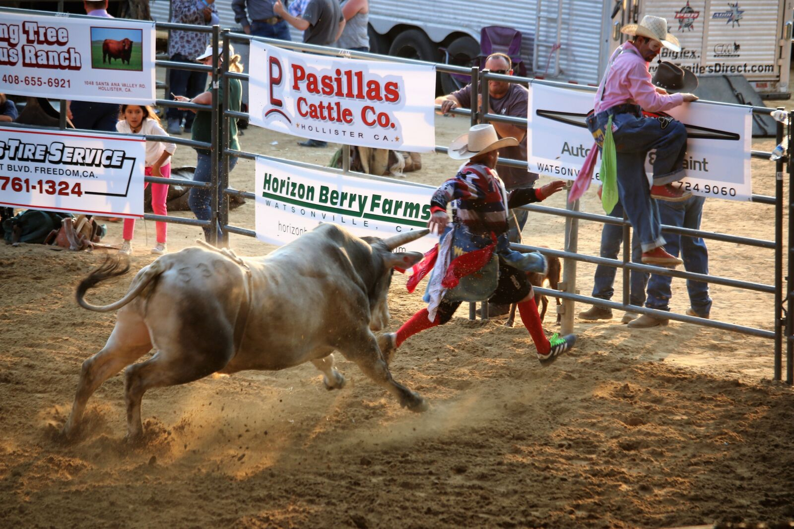 """Canon EOS 70D sample photo. """"Bull chasing rodeo clown"""" photography"""