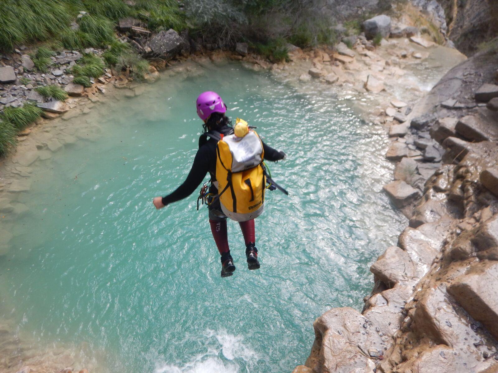"Nikon Coolpix AW120 sample photo. ""Jump, water, canyoning"" photography"