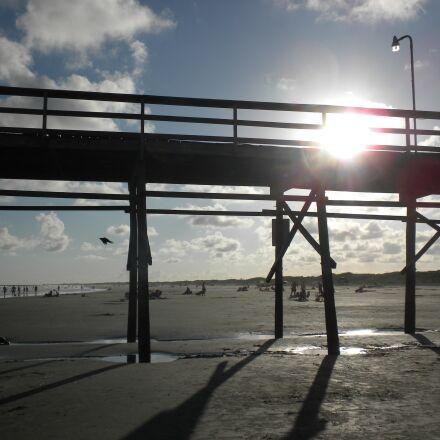 pier, sunlight, landscape, Nikon COOLPIX S630