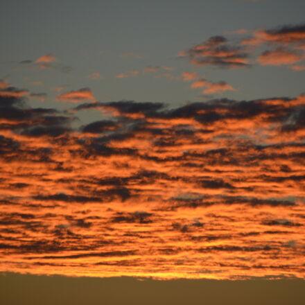 clouds, orange, sky, sunrise, Nikon D5200