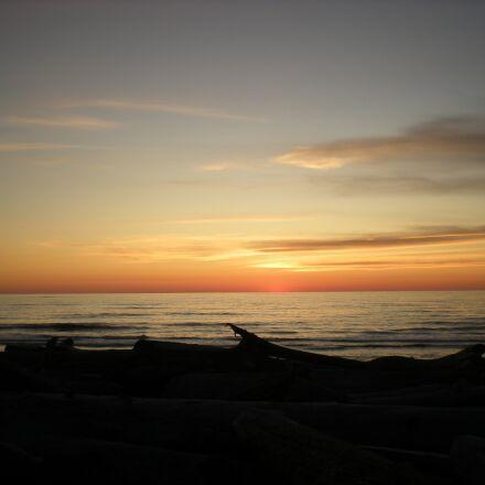 picturesque, sunrise, water, Nikon COOLPIX S210