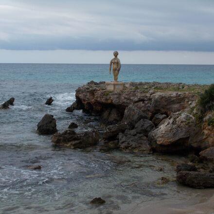 figure, coast, bay, Nikon COOLPIX L29