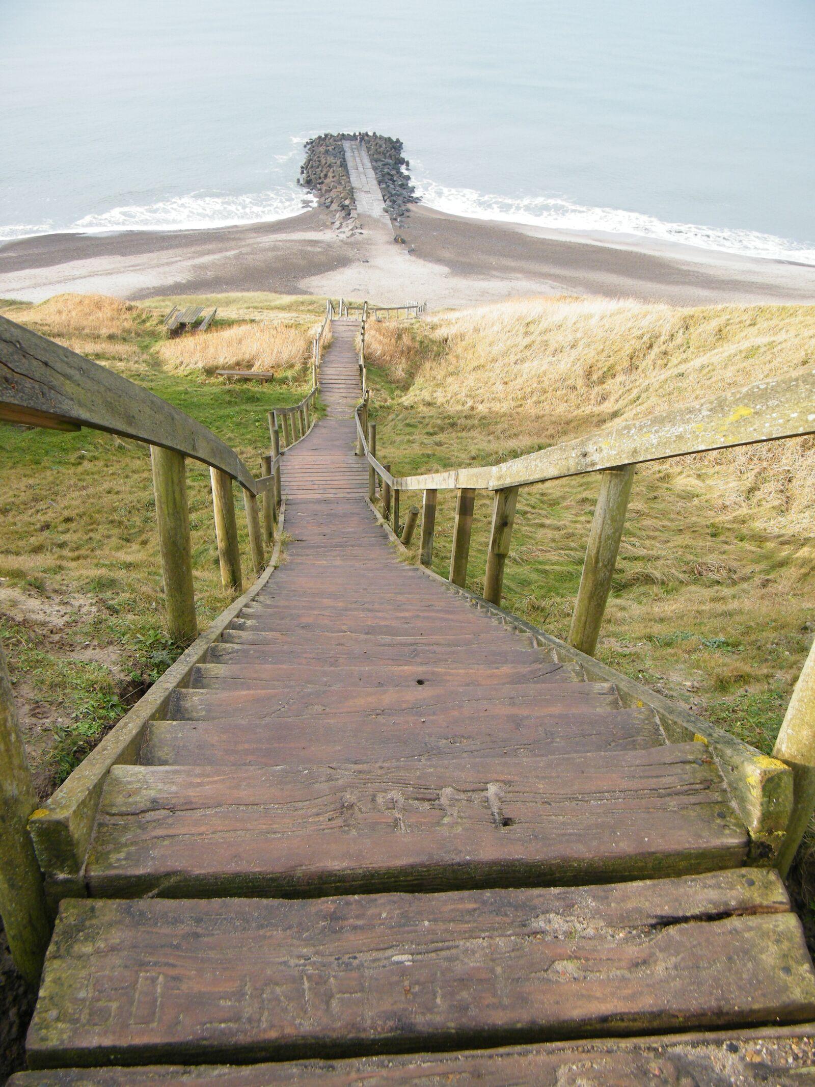 "Fujifilm FinePix S2000HD sample photo. ""Denmark, stairs, beach"" photography"