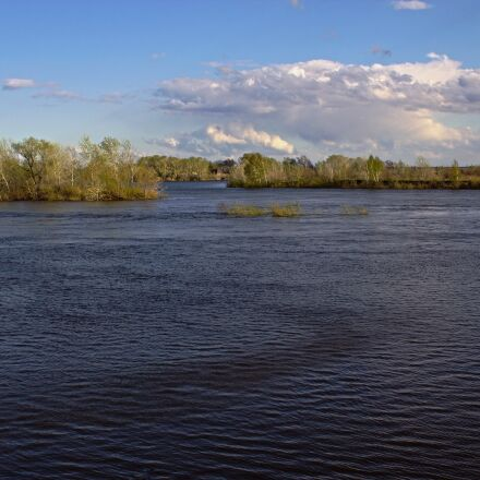 river, island, clouds, Canon EOS 600D