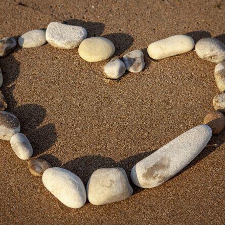 heart, love, beach, Canon EOS 5D MARK II