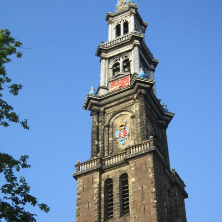 amsterdam, tower, netherlands, Canon POWERSHOT A3300 IS