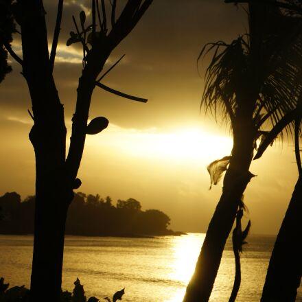 sunset, beach, seychelles, Sony NEX-5