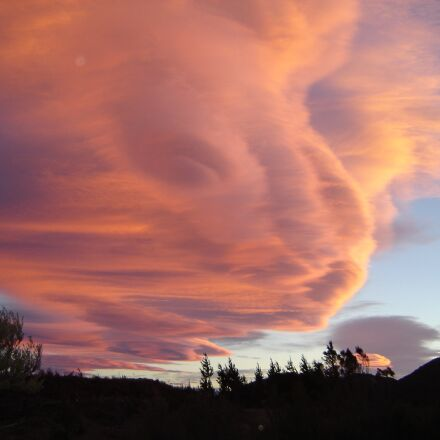 cloud formation, sunset, sky, Sony DSC-P73