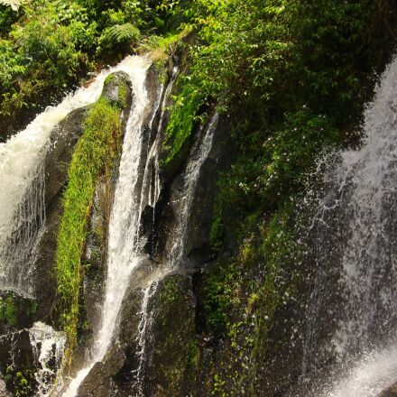 waterfall, forest, river, Canon EOS 600D