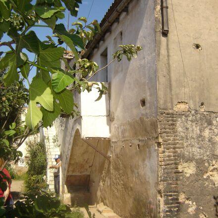 farmhouse, casa vieja, stone, Sony DSC-P73