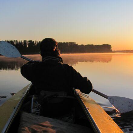 kayak, morning, sun, Canon POWERSHOT SX120 IS
