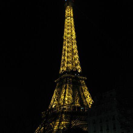 paris, eiffel tower, night, Canon DIGITAL IXUS 970 IS