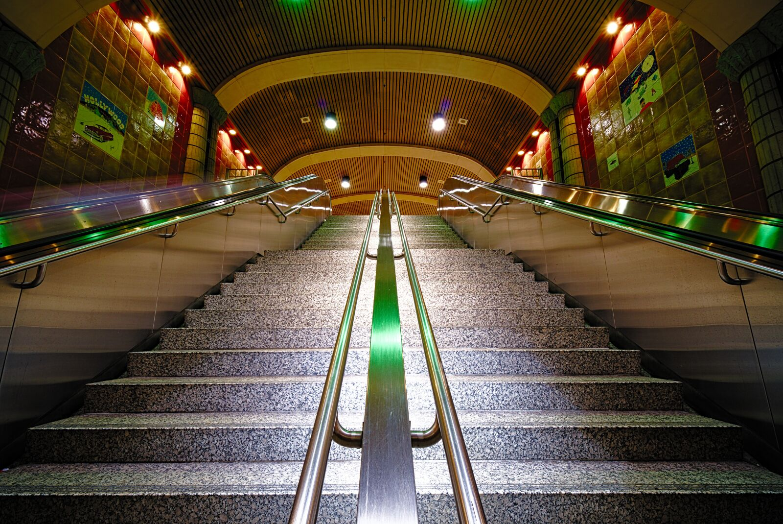 """Sony a6300 sample photo. """"Stairs, underground, light"""" photography"""