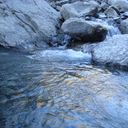 river, stones, shore, Sony DSC-W90