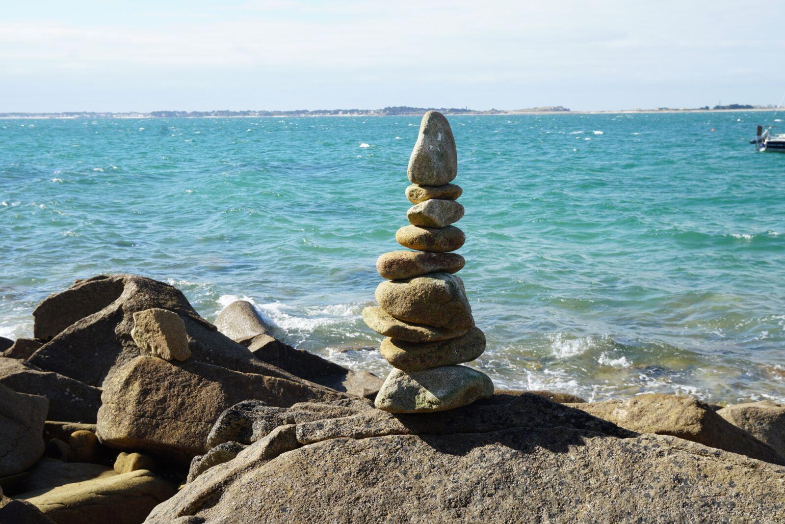 """Sony a6500 sample photo. """"Sea, coast, cairn"""" photography"""
