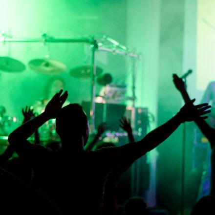 black, concert, green, light, Nikon D7000