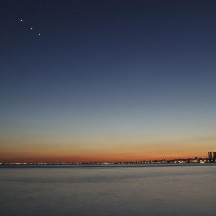sea, city, sky, water, Samsung NX3000