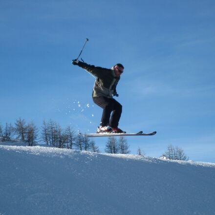 ski, jump, snow, Canon DIGITAL IXUS 85 IS