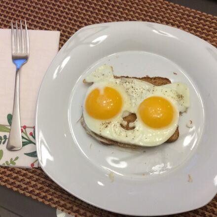 breakfast, eggs, yolk, Apple iPad Air
