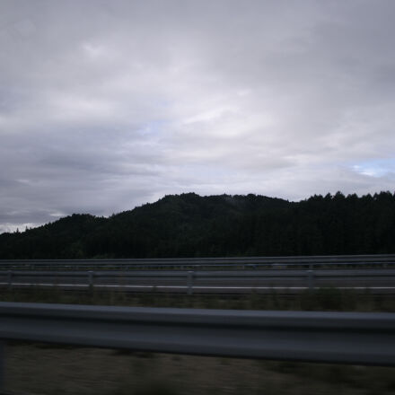 cloudy, sky, highway, mountain, Canon EOS KISS DIGITAL X