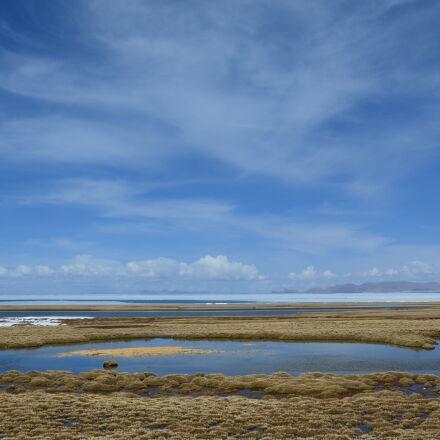 blue, sky, lake, Nikon D5100