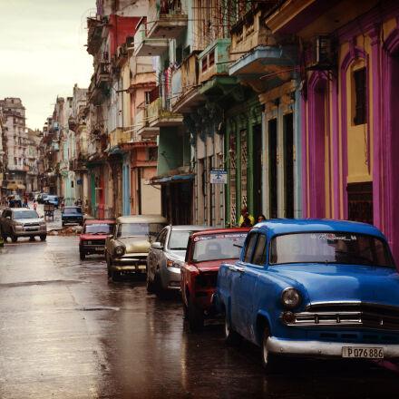 city, cars, street, rainy, Nikon D5100