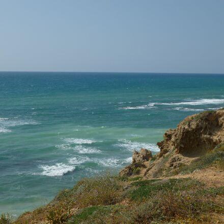sea, cliff top, water, Panasonic DMC-FS35