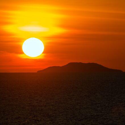 sunset, sun, dawn, Canon EOS 5D MARK III