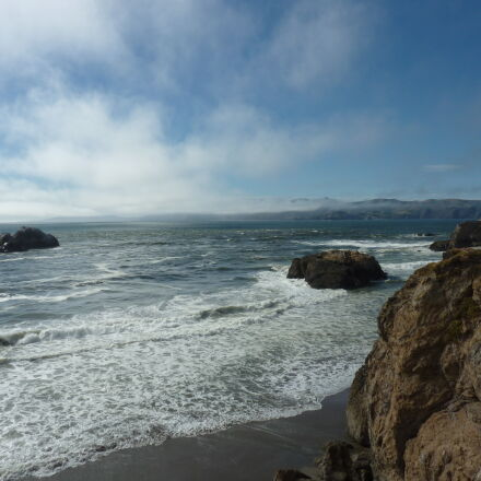 cliffs, pacific, pacific, ocean, Panasonic DMC-ZS3
