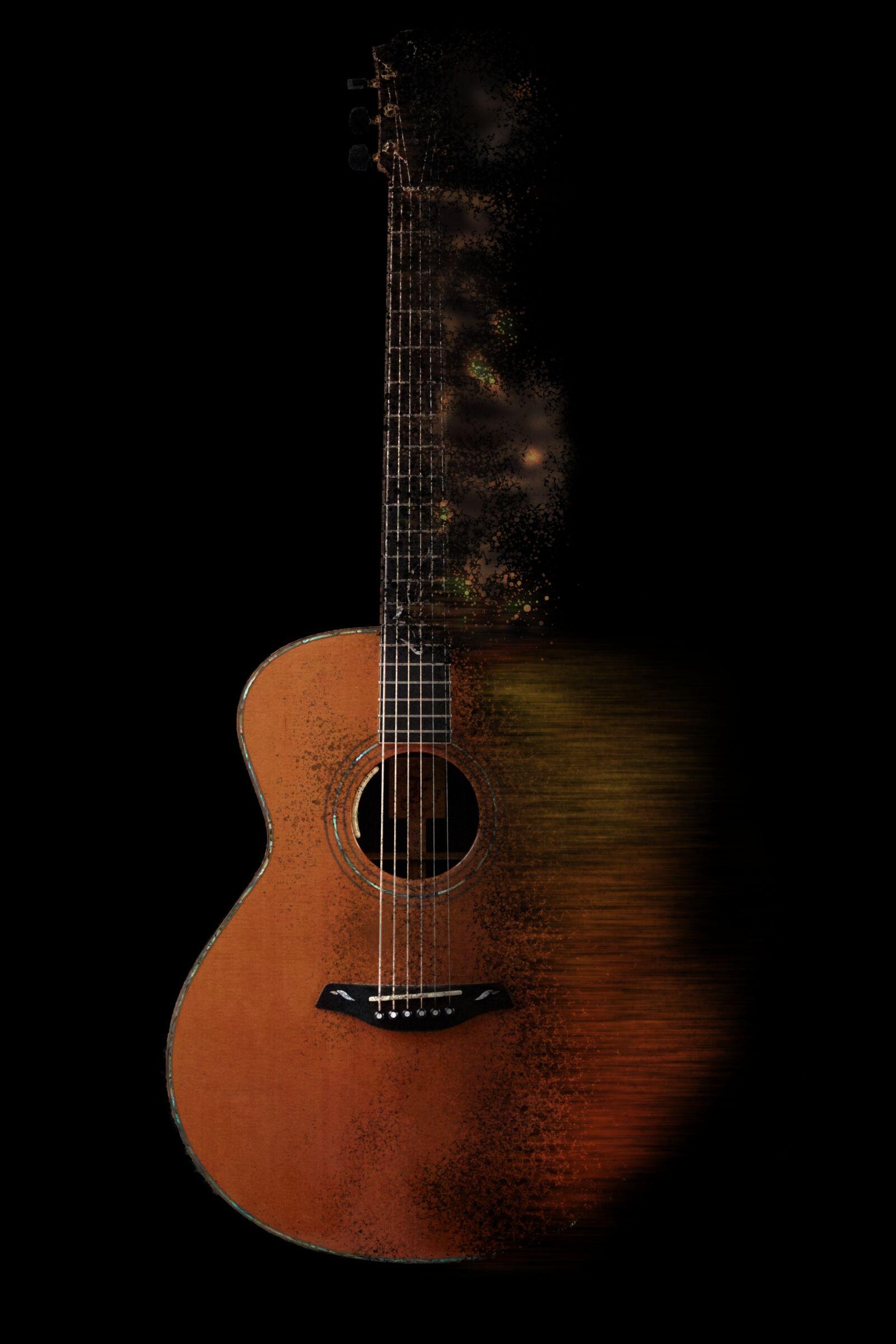 guitar, music, instrument