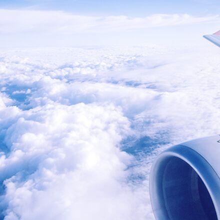 airplane, view, sky, Olympus E-PL1