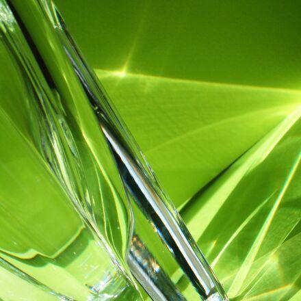 leaf, crystal, glass, Fujifilm FinePix S602 ZOOM