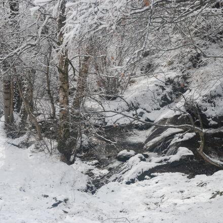 invierno, paisatge, nevat, rio, Nikon D80