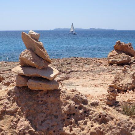 beach, cala, landscape, Sony DSC-W690