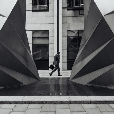 black, and, white, city, Fujifilm X100S
