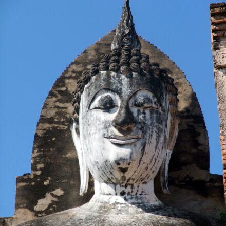 sukhothai, buddha, thailand, Fujifilm FinePix F100fd