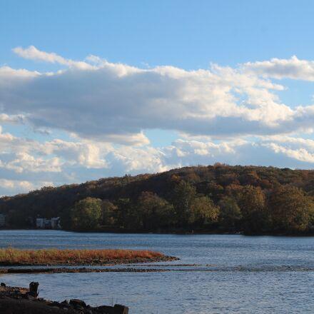 river, clouds, landscape, Canon EOS REBEL T5I