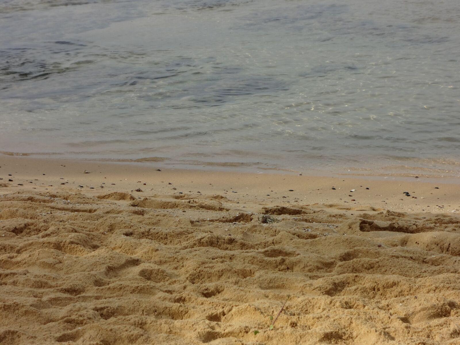 beach, sand, foot prints