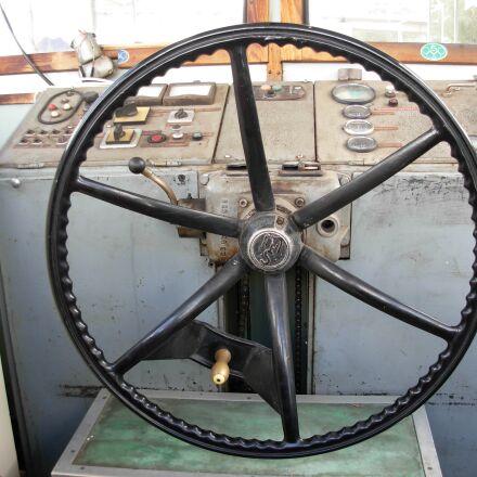 boat, wheel, ship, Nikon COOLPIX L5