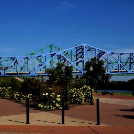 bridge, river, landscape, Fujifilm FinePix S4430