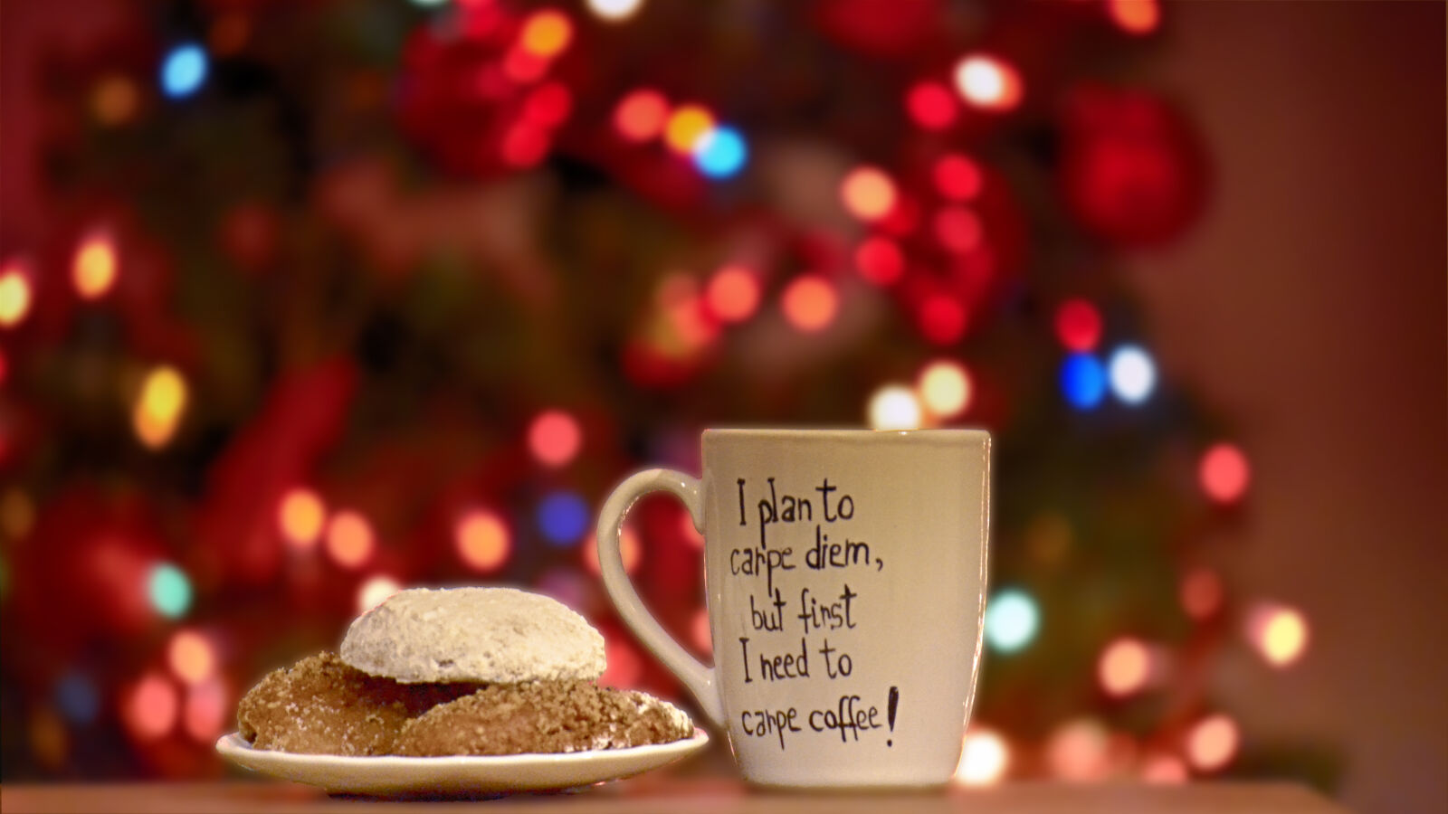 "Nikon D3100 sample photo. ""Pastry, beside, ceramic, mug"" photography"