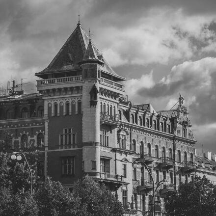 clouds, castle, prague, dramatic, Canon EOS 5D MARK II