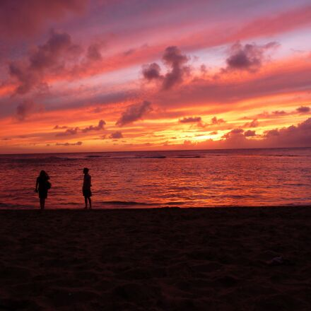 hawaii, sunset, tropical, Panasonic DMC-TS2