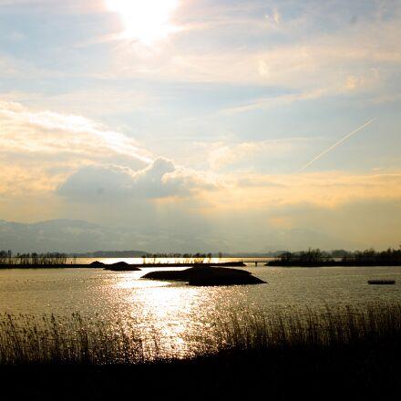 mood, abendstimmung, lake constance, Pentax K-X